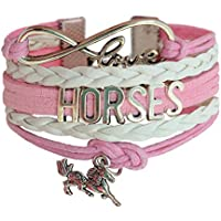 Infinity Horse Bracelet for Girls - Best Jewellery Gifts for Horse Lovers – Birthday Gifts and Pony Club Prizes - Beautifully Packaged Blue Bracelet is an Affordable Girls