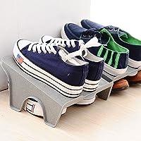 プラスチック製のシューボックス、長 24 * 幅 21 * 高 13.5 Cm 、ワイドブラウン(上の靴のペアを 2 つ ) を認め、ブラウン 1で2ペアを収納可能
