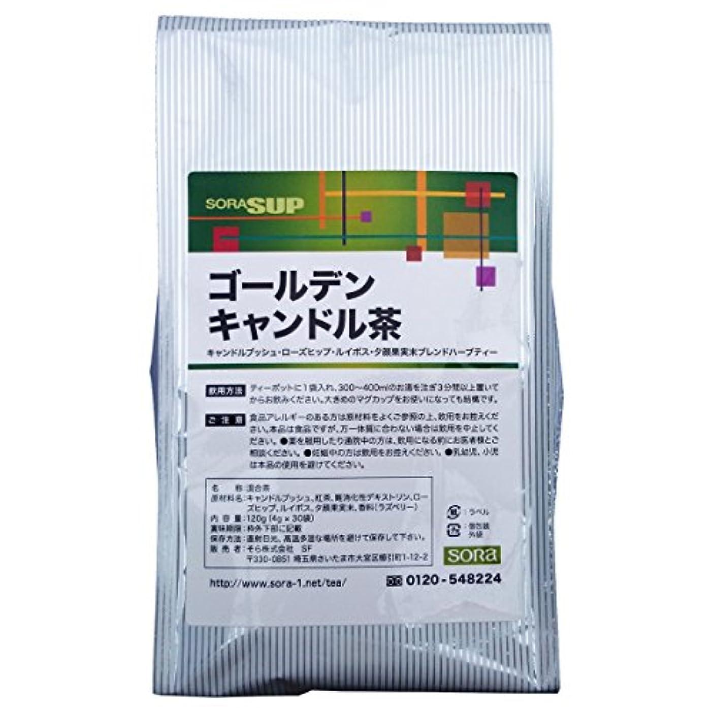 ペン迷惑嬉しいですそら ゴールデンキャンドル茶 (主成分キャンドルブッシュ) 【4gティーパック × 30包】