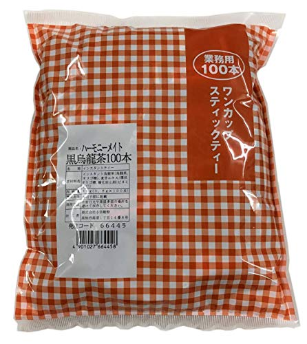 池川園茶舗 業務用インスタント黒ウーロン茶0.8g×100本入り サッと溶ける粉末タイプ