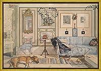 フレーム Carl Larsson ジクレープリント キャンバス 印刷 複製画 絵画 ポスター(ラトーネ)