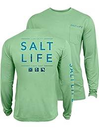 [ソルトライフ] メンズ シャツ Salt Life Men's Water Icons SLX UVapor P [並行輸入品]