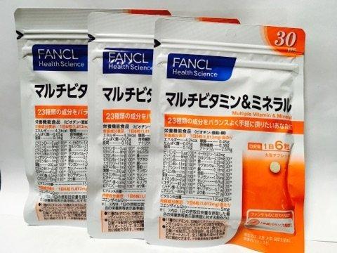 ファンケル マルチビタミン&ミネラル540粒(約90日分)...
