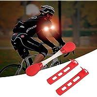 Beautyrain 1個 自転車LEDシリコンアームライト警告灯 赤い光