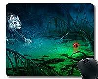 ゲーミングマウスパッドカスタム、動物沼オオカミホームオフィスコンピュータアクセサリーマウスパッド