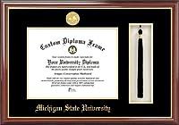 """キャンパスイメージ」ミシガン州状態大学、Spartan、タッセルボックスと卒業証書""""フレーム、8.5"""" X 11"""""""