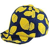 【ノーブランド品】 ベビー レモン柄ワイヤー入りつば付きキャップ 男の子 女の子 赤ちゃん 45cm-48cm