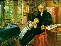 ¥5K-200k 手書き-キャンバスの油絵 - 美術大学の先生直筆 - portrait of Wyatt Pre ラファエルite John Everett Millais 絵画 洋画 複製画 ウォールアートデコレーション -サイズ05