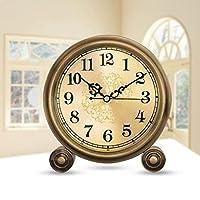 置時計デスクトップ時計ヨーロピアンスタイルのクロックテーブルデコレーションリビングルームクリエイティブデスククロックメタルベッドルームレトロ静かな時計