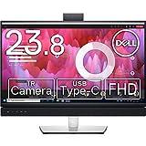 Dell ビデオカンファレンスモニター 23.8インチ C2422HE(3年間無輝点交換保証/sRGB 99%/IRウェブカメラ付/USB-C/LANポート(RJ45)/フルHD/IPS非光沢/DP,HDMI/縦横回転,高さ調節/マイク,スピーカー付)