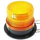 BIG Bite 12V 24V 兼用 丸型 LED 警告灯 非常灯 黄色 船舶 夜間照明 安心 安全 対策 フラッシュ ストロボ 配線用 エレクトロタップ 2個付 (丸型・黄色)