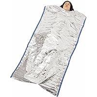 ボウエキ レスキュー簡易寝袋 Amandakasa 防寒用 防災対策 サバイバルブランケット 防寒・保温シート レスキューシート 保温断熱 非常時やアウトドア用 折り畳み式 1m×2m