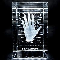 人体名称シリーズ【手のツボ】超精密立体3Dクリスタル