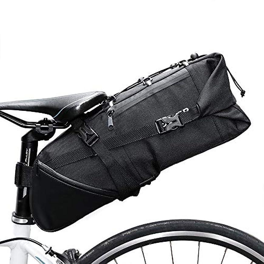 あたたかい西支配的自転車シートパックバッグ大容量自転車テールバッグ防水リアシートバッグ サイクリングバッグ防水