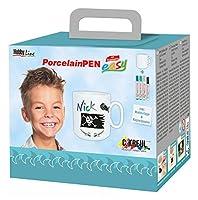 女の子のためのKREUL趣味ライン16360磁器ペン簡単マグカップセット
