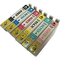 エプソン(IC50シリーズ) IC6CL50 6色セット(BK/C/M/Y/LC/LM) 互換インク