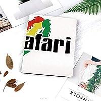 IPadケース スマートカバー アイパッドケース タブレットカバー アイパッド第四世代 第三世代 レゲエラスタファリグランジデザインの旗の色の背景アートプリント装飾