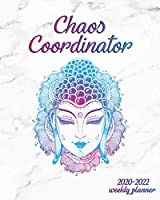 Chaos Coordinator 2020-2022 Weekly Planner: Nifty Marble Three Year Daily Schedule Agenda with Weekly Spread Views | Buddha Head 3 Year Organizer with Notes, Vision Boards, Inspirational Quotes & More