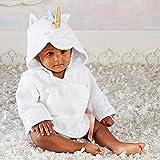 ベビーアスペン Baby Aspen 女の子用ユニコーンタオル地フード付きバスローブ [並行輸入品]