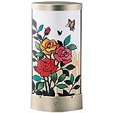 さくらほりきり 手作りキット LEDあかりアート (リーフ型) ローズガーデン 巾13.5×奥行7.5×高さ28.5cm