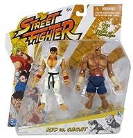 "Ryu (~4"") vs Sagat (~5"") Action Figure: Street Fighter 2-Figure Pack - Round 1"