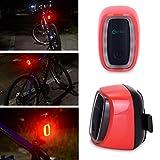 WOLFTEETH リアライト 自転車 補助 USB充電 セーフティ LEDライト ダブル感応 テールライト 自転車用バックライト レッド 408002