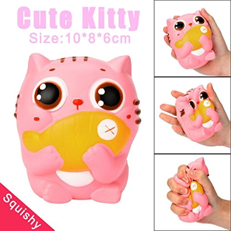 celendi Cute Kittyクリーム香りつきスポンジおもちゃSlow Rising Squeeze子供おもちゃギフトChioce