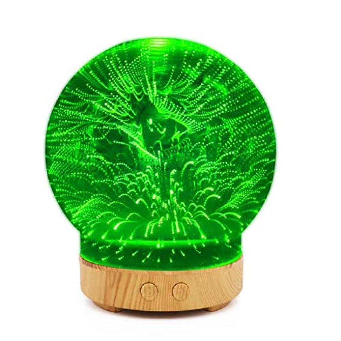 対話修士号ピザ加湿器、3 d超音波ミストガラス精油アロマ香りディフューザー超音波、アロマディフューザー、用ホームヨガオフィススパ寝室ベビールーム (Color : F)
