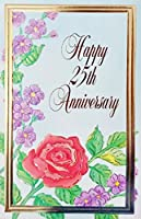 """Happy 25th Anniversary Greeting Card–25年/25th結婚おめでとうございますfor Couple夫と妻–"""" May the love that you feel for each other今日Be With You Long後この特別な日」"""