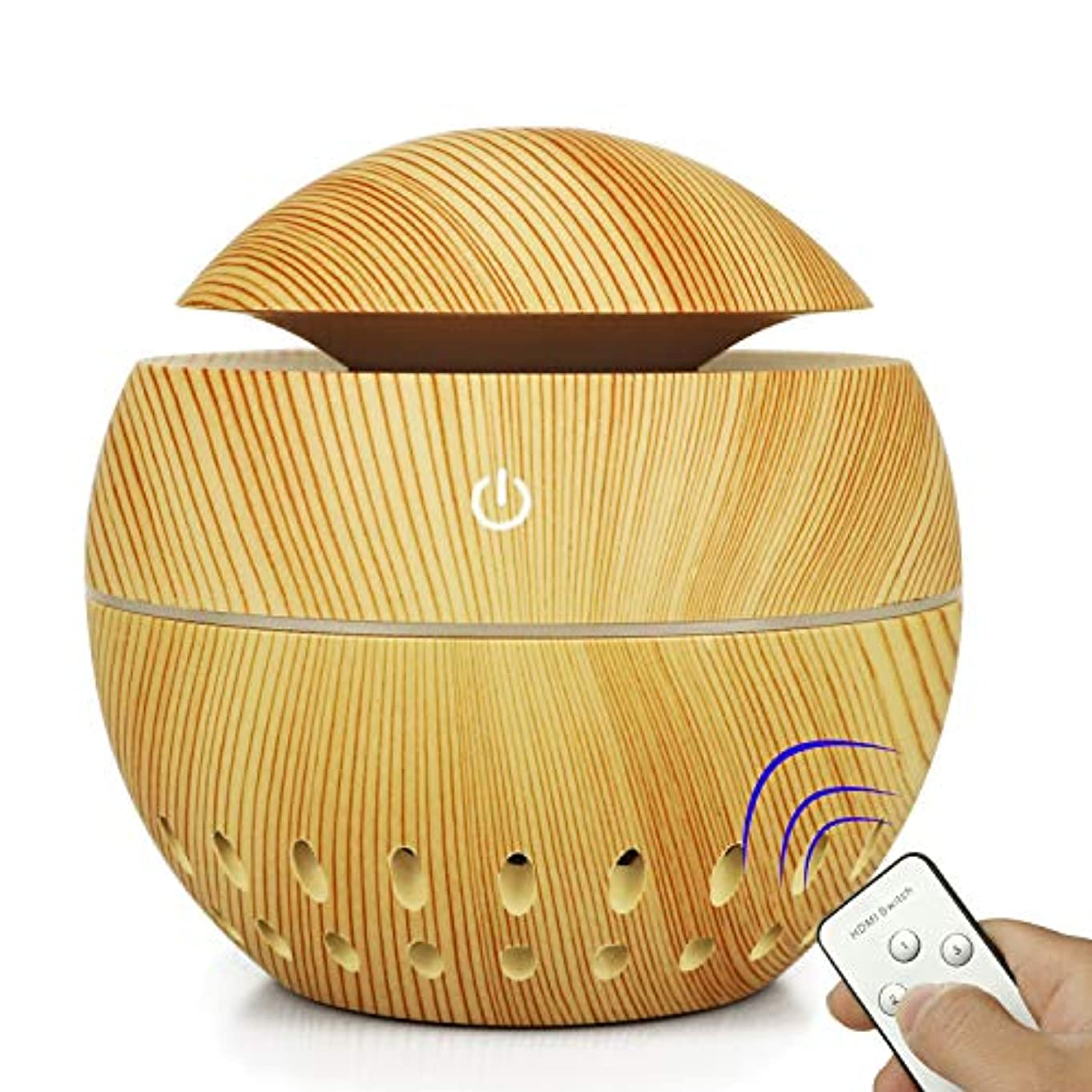 エトナ山一貫性のない飽和する加湿器USBウッドグレイン中空加湿器きのこ総本店小型家電 (Color : Brass, Size : 100MM*105MM)