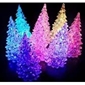わぉ~! ミニ クリスマス ツリー LED イルミネーション ライト テスト用電池付 13cm×6cm