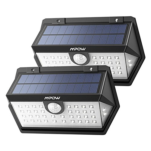 Mpow センサーライト ソーラーライト 40led IP65防水 3つ点灯モード 屋外照明 センサー時間30s 人感ライト 18ヶ月間保証 停電緊急対策 2019年新品 2個