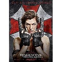 バイオ ハザード ザ・ファイナル ミラ ジョヴォヴィッチ 2 Resident Evil: The Final Chapter Milla Jovovich シルク調生地 ファブリック アート キャンバス ポスター 約60×90cm [並行輸入品]