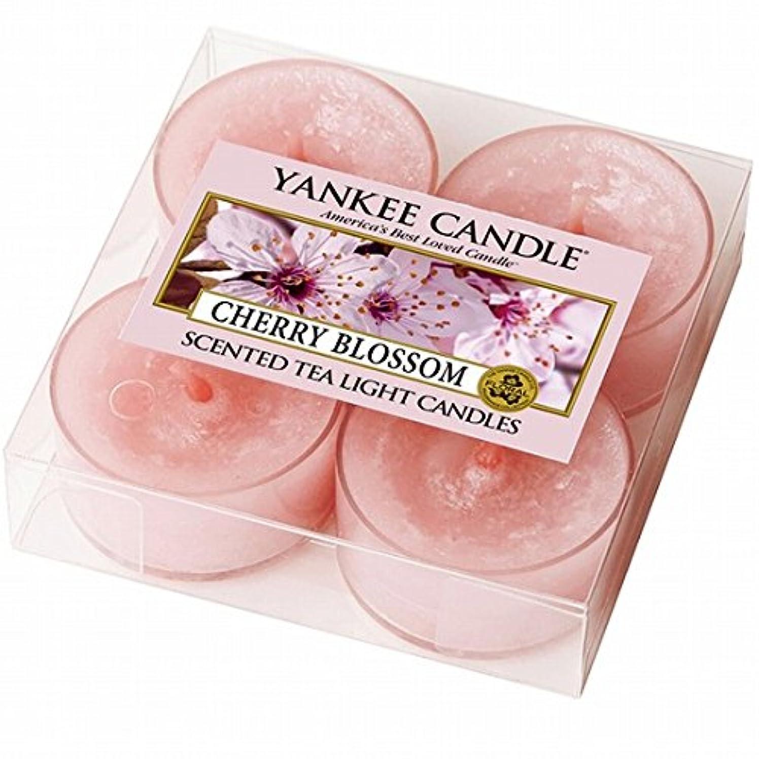 ミンチ回復誤ヤンキーキャンドル( YANKEE CANDLE ) YANKEE CANDLE クリアカップティーライト4個入り 「チェリーブロッサム」