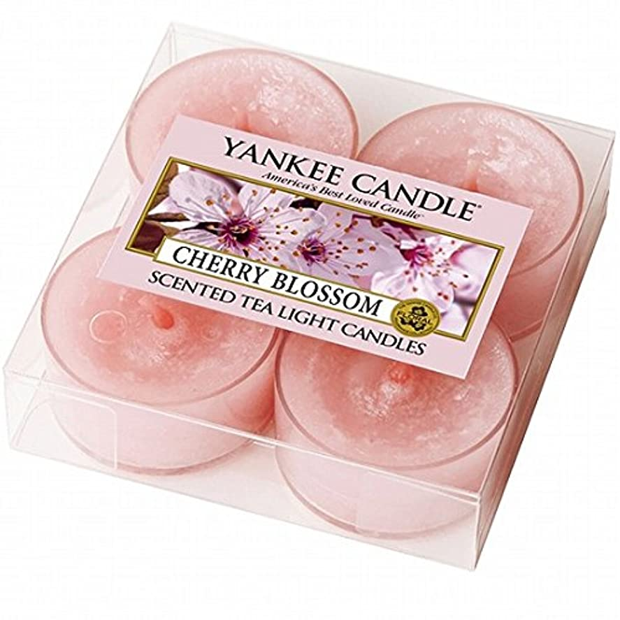失態ペック残高ヤンキーキャンドル( YANKEE CANDLE ) YANKEE CANDLE クリアカップティーライト4個入り 「チェリーブロッサム」