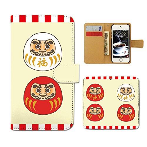 Tiara iPhone8 Plus 5.5 iPhone8Plus スマホケース 手帳型 祝儀 お祝い 達磨 ダルマ 必勝 手帳ケース カ...