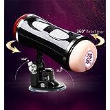 メンズマッサージャー、ダブルホールハンズフリー、現実的な3Dソフトデュアルチャンネル、バイブレーター快適玩具、7種類の振動モード