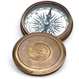 Vintage Style Maritime Collectible Compass Brass Finish by Collectibles Buy