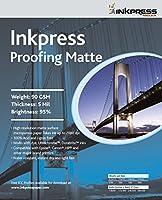 Inkpressメディア90gsm、5ミル、95%明るい、片面フォト用紙( # em1350)