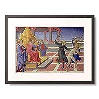 Sano di Pietro,1406-1481 「Aus dem Leben des Hl.Hieronymus: Der Traum (Die Geisselung). Altar-Predella.」 額装アート作品