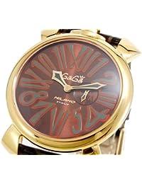 ガガミラノ GAGA MILANO SLIM スリム 46mm 腕時計 クオーツ メンズ レディース 5085.1 ブラウン [並行輸入品]