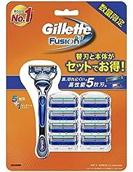 ジレット フュージョン5+1 マニュアル 髭剃り 本体+替刃 9個付