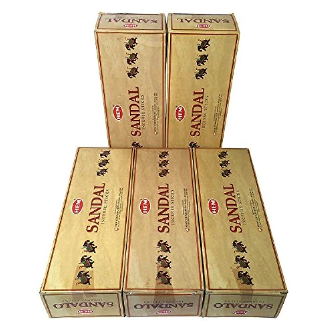 付添人魅力的であることへのアピールの中でHEM プレシャス サンダル香 スティック 5BOX(30箱)/HEM SANDAL/ インド香 / 送料無料 [並行輸入品]