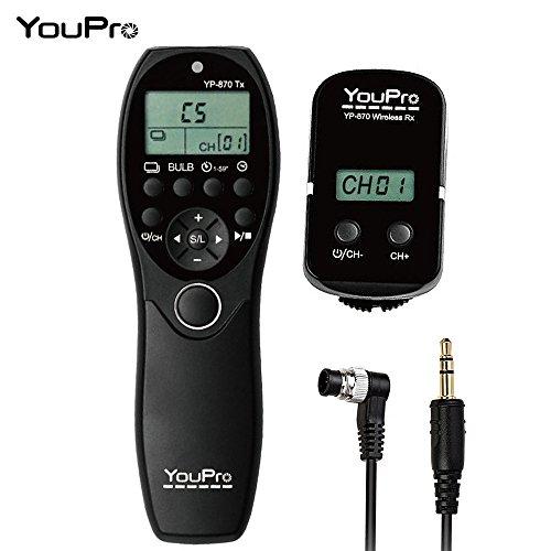 YouPro YP-870 DC0 2.4G ワイヤレスリモコン LCD タイマー シャッター リリース トランスミッタ&レシーバ 32 チャンネル Nikon D5 D4S D4 D3S D3 D2 D1 D800 D810 D810A D800E D700 D300S D300 Fujifilm Kodak デジタル一眼レフカメラ用