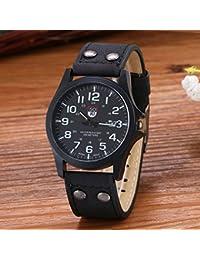 Honel 腕時計 メンズ レザー ベルト カレンダー付 クオーツ ウオッチ 男性用 時計 ksd-15