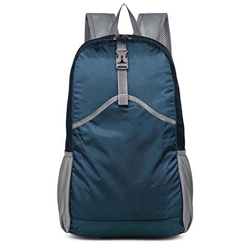 Q-rui 超軽量 折り畳み可能 旅行リュック 23L バックパック ザック 携帯 耐久性 撥水 アウトドア/キャンプ/ハイキング用 10色選択可 男女兼用 (ネイビー)