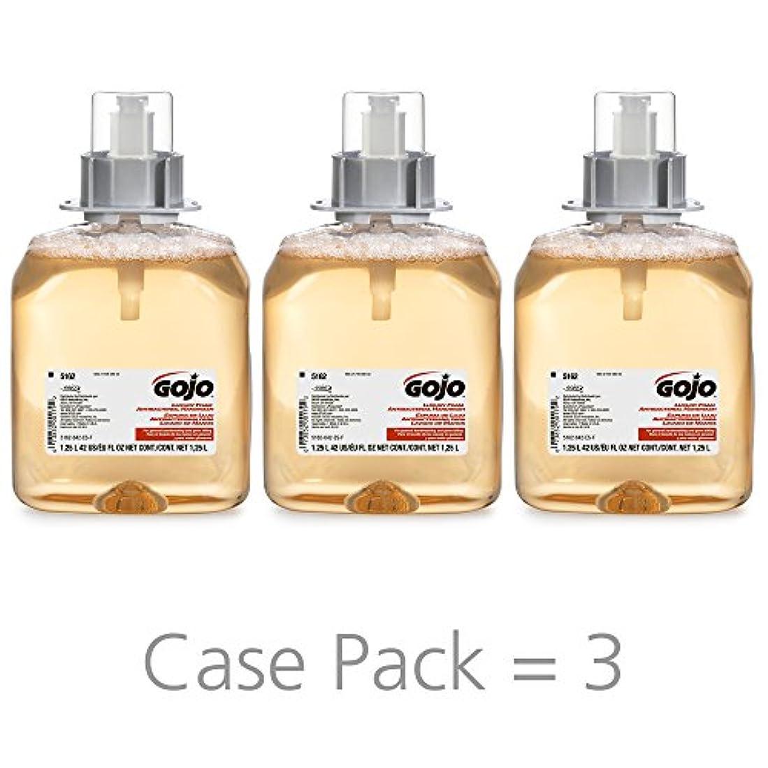 注意端末ちょうつがいGOJO 516203CT FMX-12 Foam Hand Wash, Fresh Fruit, FMX-12 Dispenser, 1250mL Pump, 3/Carton by Gojo