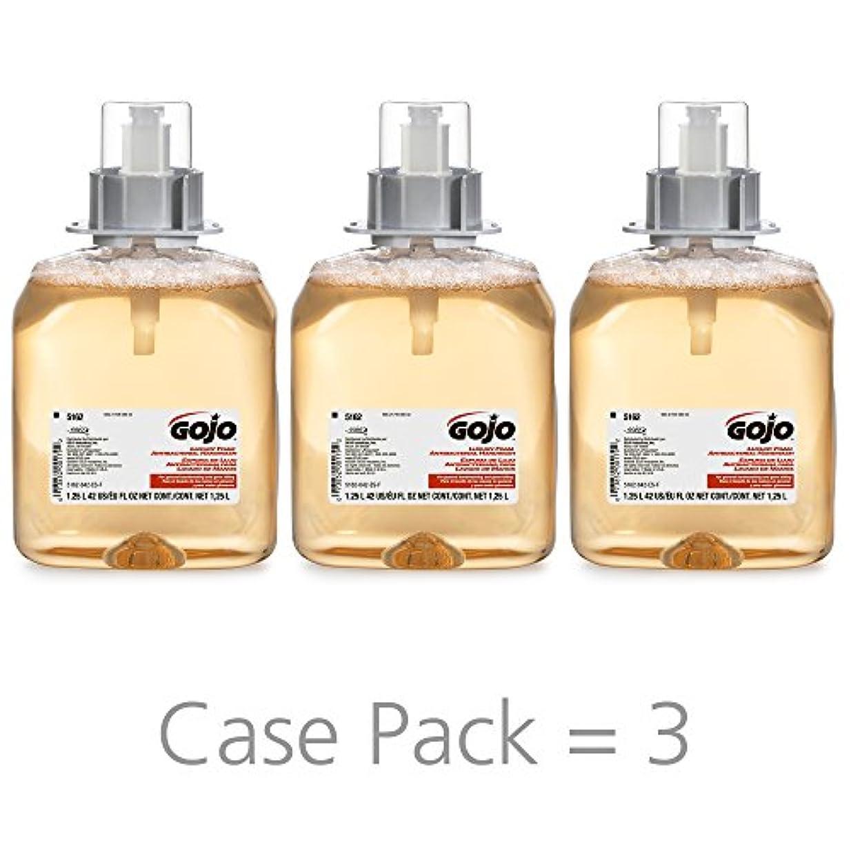 しないでください許すトランザクションGOJO 516203CT FMX-12 Foam Hand Wash, Fresh Fruit, FMX-12 Dispenser, 1250mL Pump, 3/Carton by Gojo