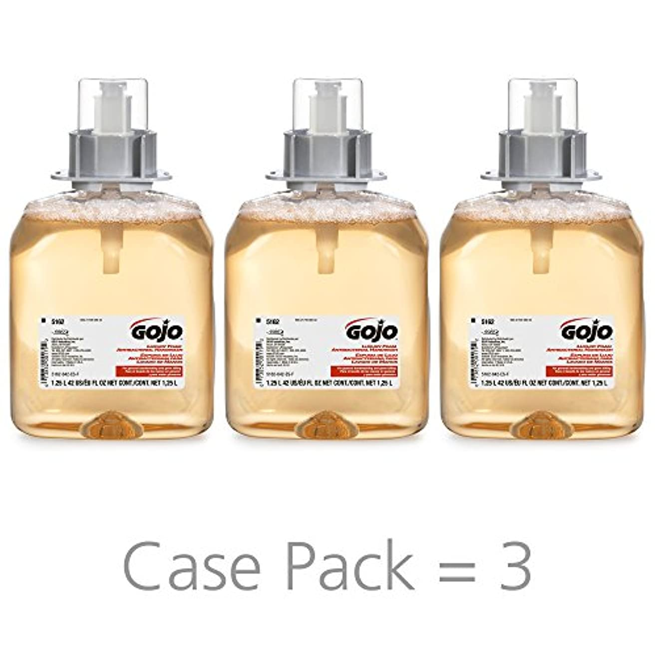 GOJO 516203CT FMX-12 Foam Hand Wash, Fresh Fruit, FMX-12 Dispenser, 1250mL Pump, 3/Carton by Gojo