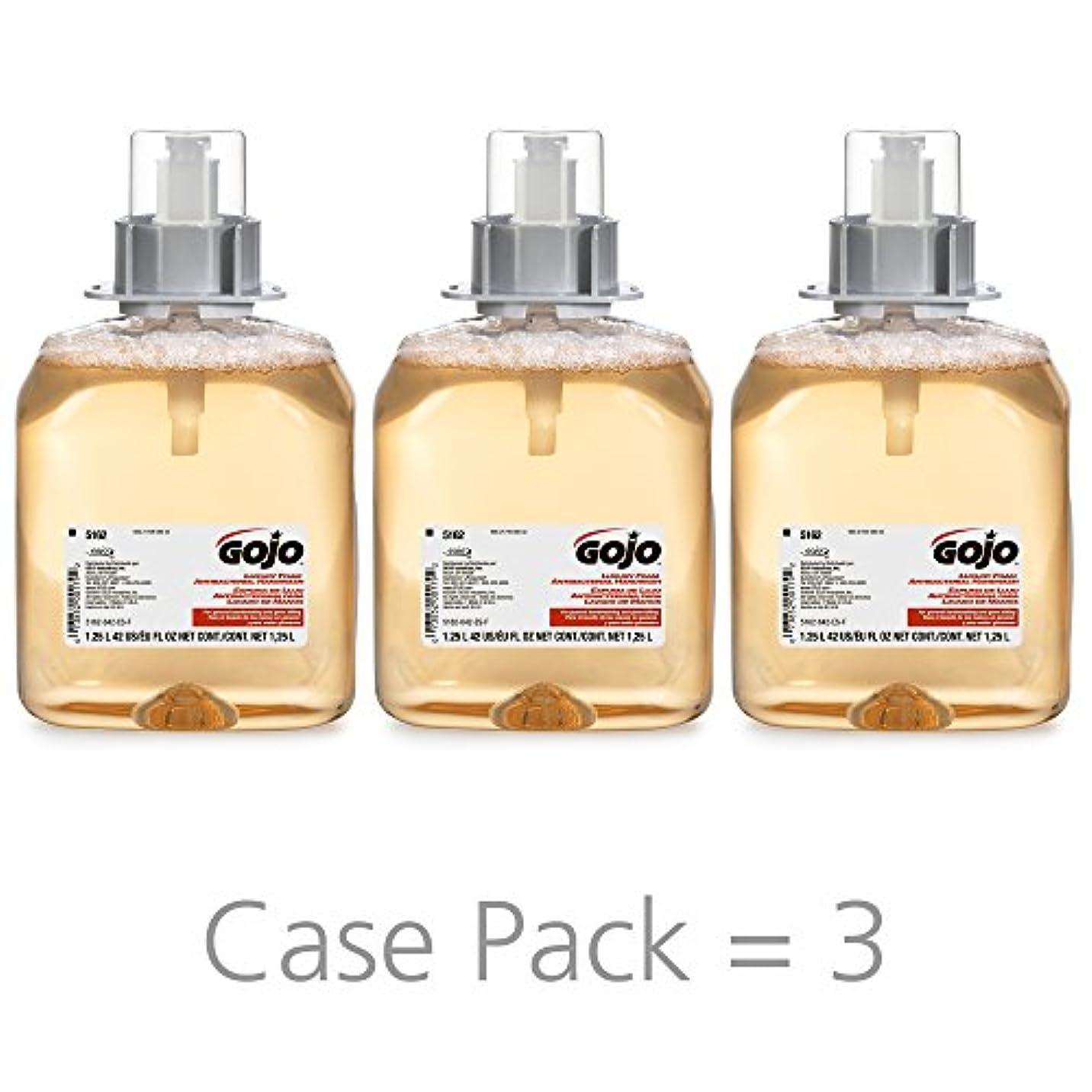 スナック事装置GOJO 516203CT FMX-12 Foam Hand Wash, Fresh Fruit, FMX-12 Dispenser, 1250mL Pump, 3/Carton by Gojo